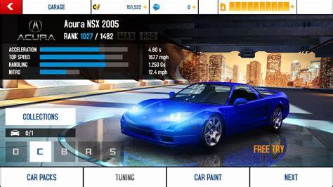 acura nsx 2005 performance stats asphalt wiki fandom