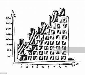 Bar Chart Business Diagram Upwards Drawing High-res Vector Graphic