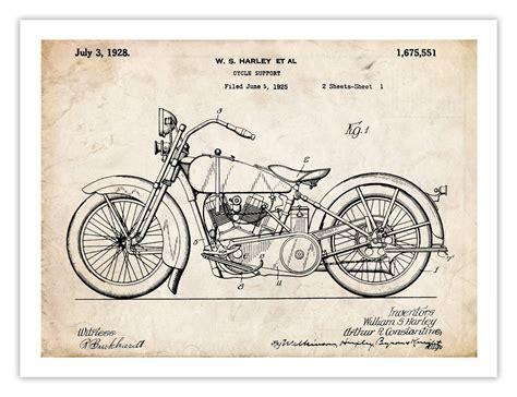Harley Davidson 1928 Motorcycle Poster Us And 50 Similar Items