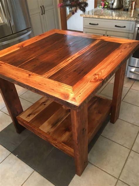 custom barn wood kitchen island  barn wood studio
