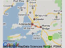 Map of Adelaide, South Australia Hotels Accommodation