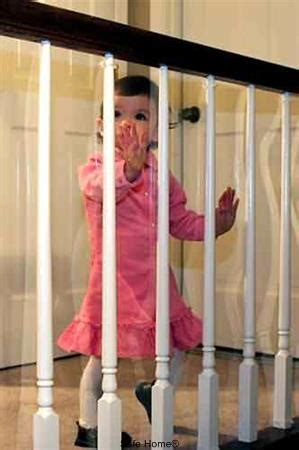 Banister Protection For Babies by Banister Guard Kid Shield Clear Shatterproof Plastic