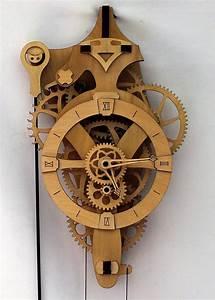 Wooden Gear Analog Wall Clock Kit