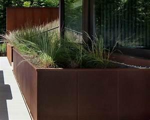 Comment Remplir Une Grande Jardinière : jardini re ext rieure en acier patin pour un style industriel ~ Melissatoandfro.com Idées de Décoration