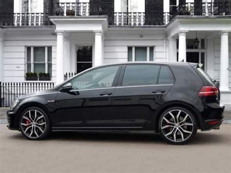 volkswagen golf gti mk solid black car luvv