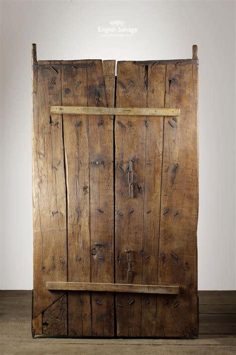reclaimed hardwood thick plank doortable top antique