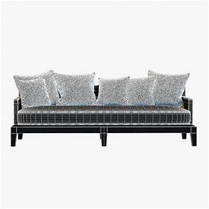 christian liaigre sofa for holly hunt opium 3D Model MAX ...