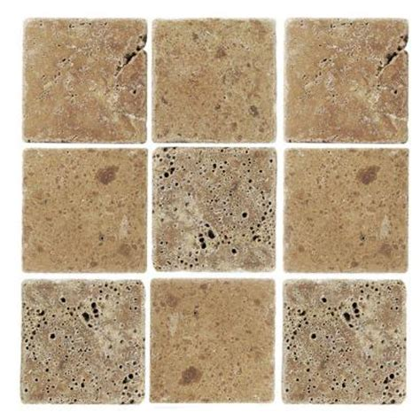 Home Depot Marble Tile by Jeffrey Court Travertino Noce 4 In X 4 In Travertine