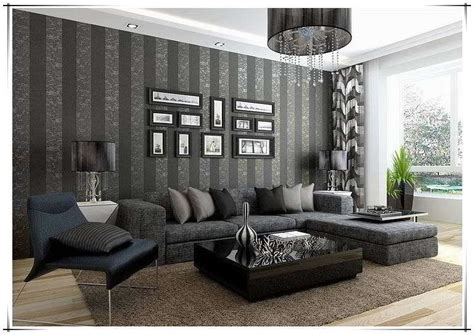 desain  memasang wallpaper dinding ruang tamu
