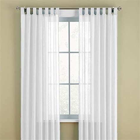 brylanehome crushed voile tab top curtain white 51 w 84