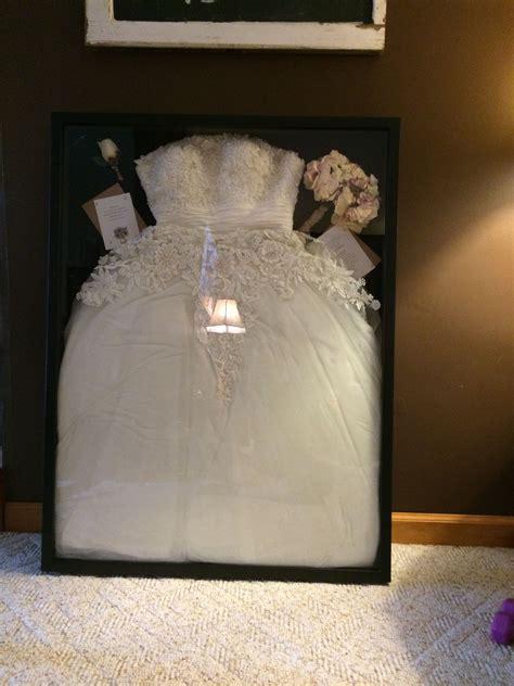 wedding dress   shadow box   largest