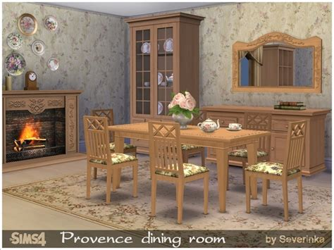 provence dining room the sims resource provence dining room by severinka sims 4 downloads