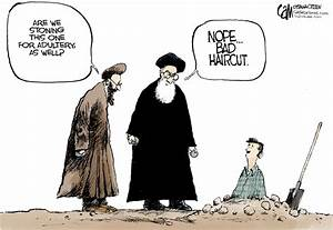 Editorial Cartoons Mel Apple And Stoning In Iran