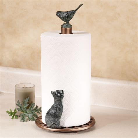Black Paper Towel Holder For Bathroom With Figure Statue