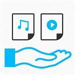 Data Icon Audio Sharing Streaming Icons Internet