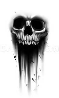 Bleeding Skull Drawing