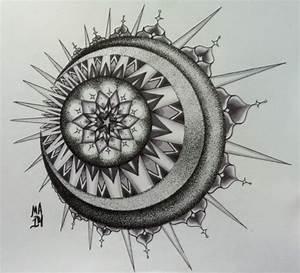 sun & moon mandala | Tumblr
