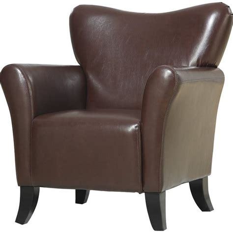 coaster accent seating faux leather upholstered chair in