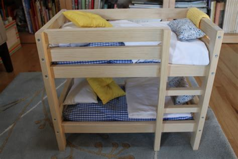 diy american girl doll triple bunk bed plans wooden