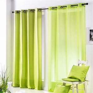 Voilage Vert D Eau : voilage 140 x h240 cm salsa vert voilage eminza ~ Dode.kayakingforconservation.com Idées de Décoration