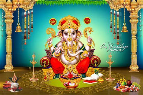 lord ganesh hd wallpaper psd template naveengfx