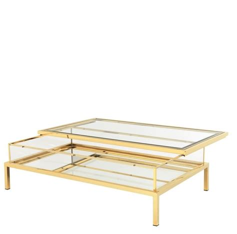 gold rectangle coffee table harvey rectangular gold coffee table
