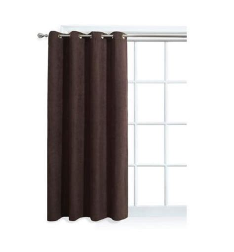 walmart grommet curtain rods mainstays faux suede window panel with grommets walmart ca
