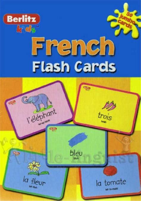 Berlitz Kids Flash Cards-French | Basic french words ...