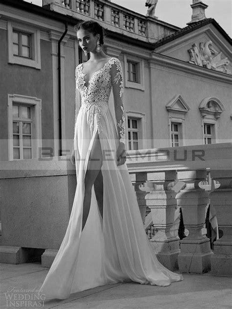 robe de mari 233 e dos nu longue manche longue col v