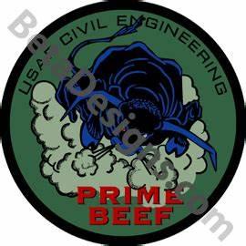 USAF Civil Engineering-Prime Beef-Insignia Drab