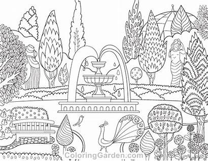 Coloring Garden Victorian Pages Adult Printable Colouring