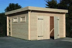 Garage Aus Holz Selber Bauen : flachdach holzgarage 44 moderna mit doppeltor ~ Michelbontemps.com Haus und Dekorationen