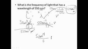wavelength frequency problems - YouTube