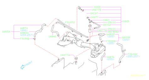 Subaru Intake Manifold Diagram by 11819aa001 Subaru Connector Complete Pcv Manifold