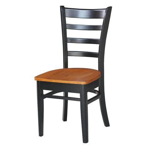 international concepts emily black cherry wood dining