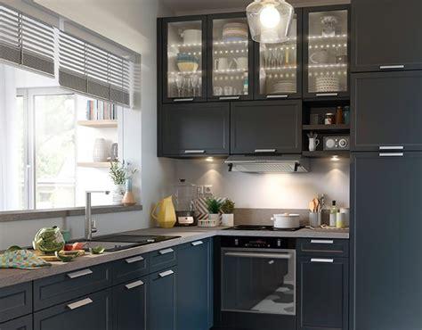 meuble cuisine castorama castorama cuisine fog bleu une cuisine chic et pratique