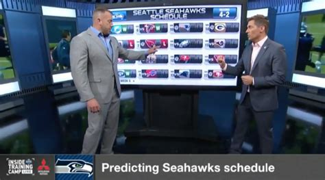 nfl network predicted  years seahawks schedule