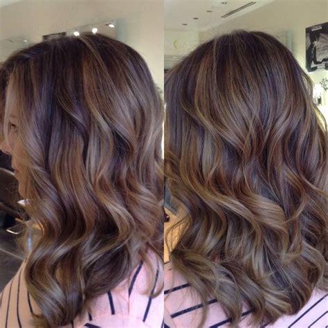 honey highlights on light brown hair balayage highlights creating a neutral light brown ombré