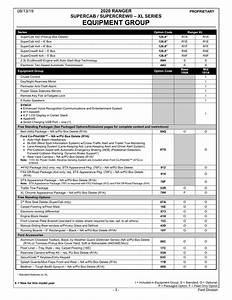 2020 My Ranger Order Guide  U0026 Fleet Preview