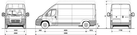 Fiat ducato Blueprint   Download free blueprint for 3D