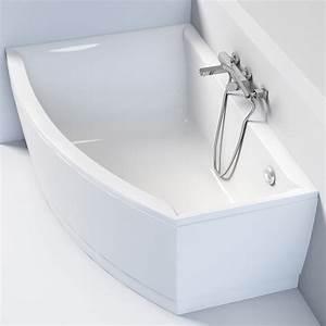 Baignoire D Angle Asymétrique : baignoire asym trique gauche 160 x 105 cm veronella ~ Premium-room.com Idées de Décoration