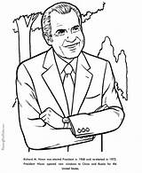 Coloring Nixon Richard Pages Facts President Presidents Printable Henry John Printables Reconciliation Usa Patriotic Activities Presidential Printing Help States United sketch template
