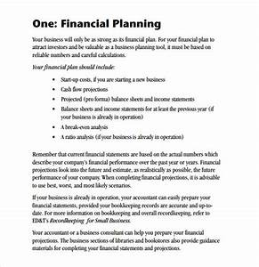 sample financial business plan 5 documents in pdf With business plan template for financial advisors