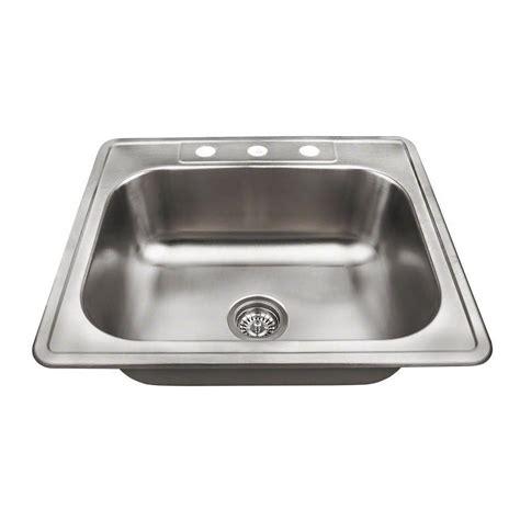 best stainless steel sink water creation top mount zero radius stainless steel 25 in