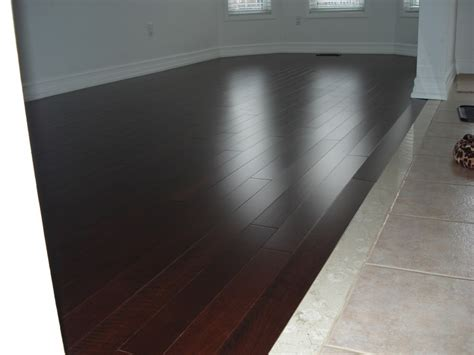 wood transition to tile