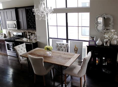 rustic causal dining room on traditional