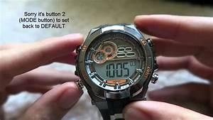 Alarm Chrono Wr50m Watch Instructions