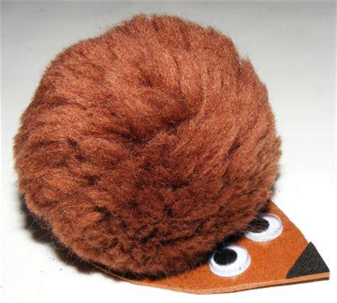 pompom hedgehog craft kids