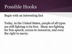 what is a hook in an argumentative essay