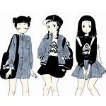 Aesthetic Anime Drawing Casual Clothes Transparent Grunge